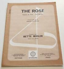 Partition sheet music BETTE MIDLER : The Rose * 70's