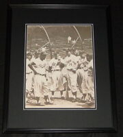 Jackie Robinson & Brooklyn Dodgers at Batting Cage Framed 11x14 Photo Poster