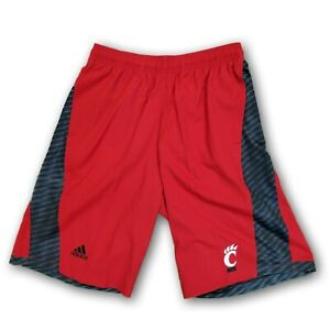 Cincinnati NCAA Adidas Men's Red/Black Drawstring Shorts With Pockets