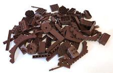 LEGO Brown Bricks Mixed Bulk Lot 103 Pieces GOOD VARIETY Parts Plates Tiles