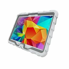 "Samsung Tab 4 10"" - Hideaway with Stand - Ruggedized Case  - White - Grey"