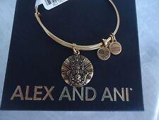 Alex and Ani HAND OF FATIMA II  Russian Gold Charm Bangle New W/Tag Card & Box