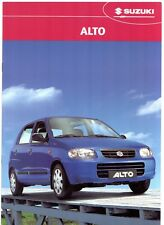 Suzuki Alto 1.1 GL 2002-04 UK Market Sales Brochure