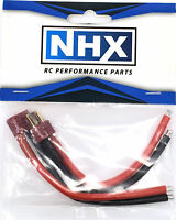 """NHX Deans Anti-Skid Male / Female Adapter Connecter with 12 AWG 4"""" Silicone Wire"""