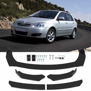 Car Front Bumper Splitter Spoiler Lip Body Kit Fit For Toyota Corolla 2006-2014