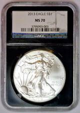 2013 American Silver Eagle ASE $1 Black Core Retro Holder ~ NGC MS70 MS 70