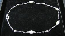 925 Judith Ripka with CZ and Cultured Pearl Necklace