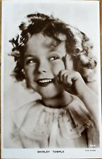 Shirley Temple 1930s Realphoto Movie Star Postcard - Smiling & Pointing