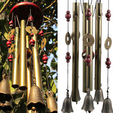 New listing Beauty Garden Hanging Decor Gift 5 Bells Copper Wind Chimes Home Yard hot