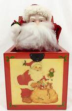 "Enesco 1987 Musical St Nicholas Jack-in-the-Box ""I Believe In Santa"" Lacquer Box"