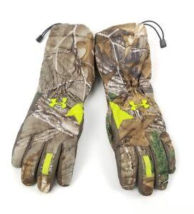 Under Armour ColdGear Gloves Gore Tex Scent Control Camo RealTree Small SM/P Men