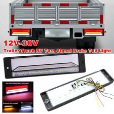 Pair Halo Neon Flowing 147 LED Trailer Truck Turn Signals Brake Tail Light Lamp