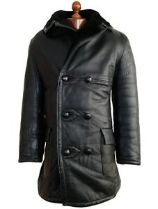Leather 40s SHEEPSKIN WW2 GERMAN LUFTWAFFE OFFICERS BARNSTORMER Coat Jacket B-3
