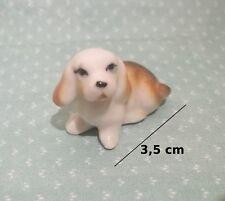 chien miniature en céramique ,collection, vitrine, hondje, dog   G30-19