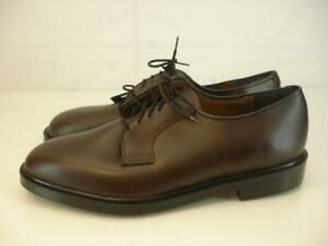 Mens 9.5 EE Wide Capps Capital 90032 Brown Leather Air-Lite Oxford Shoes Uniform