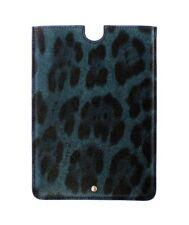Nuevo Dolce & Gabbana Funda Tablet Ebook Funda Piel Azul Diseño de Leopardo
