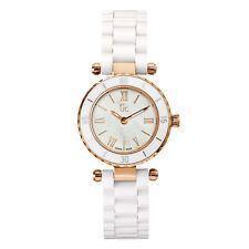 GUESS GC X70011L1S DIVER MINI CHIC Damenuhr Rosegold Keramik Weiß Armbanduhr NEU