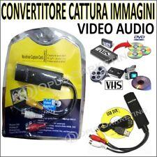 CONVERTITORE Grabber Box USB Scheda Acquisizione Video per Passare VHS su DVD