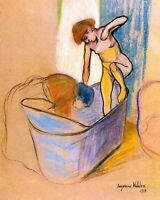 """""""The Bath"""" by French  Suzanne Valadon. Canvas Fine Art.  11x14 Print"""