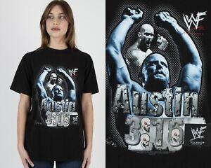 Vtg 1998 WWF Steve Austin Stone Cold 3:16 World Wrestling Black Tee T Shirt M