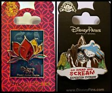 Disney Parks 2 Pin Lot Rivers of Light ANIMAL KINGDOM + Expedition Everest rides