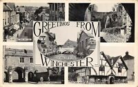 Vintage 1958 Multi View Real Photo Postcard, Greetings from Winchester AY0
