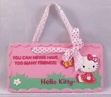 "Hello Kitty ""You Can Never Have Too Many Friends"" Wall Plaque Hanging"