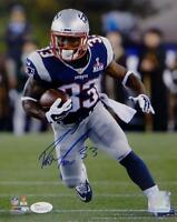 Dion Lewis Autographed New England Patriots 8x10 Running PF Photo- JSA W Auth