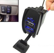 Car Motorcycle Boat Charger 2 Port Socket Plug Dual USB Power 12V 3.1A Blue LED