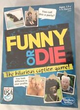 New Sealed Hasbro FUNNY OR DIE Youth to Adult Game 3-6 Players