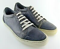 250907 PF50 Men's Shoes Size 9M Charcoal Gray Leather Lace Up Johnston Murphy