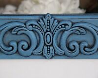 Antique country blue 5x7 embellished wooden wall gallery picture frame decor
