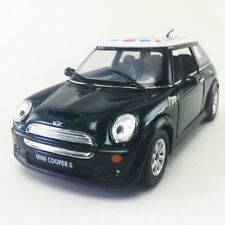 "New 5"" Kinsmart Mini Cooper S British Flag Diecast Model Toy 1:28 Green"