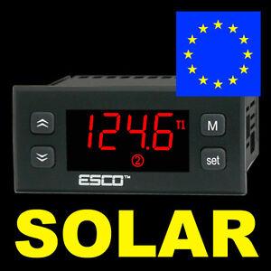 SOLARREGELUNG WarmWasser TemperaturDifferenzregler SolarSteuerung Kollektorpumpe