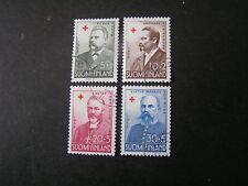 Finland, Scott # B138-B141(4), Set 1955 Semi-Postal Red Cross Issue Used