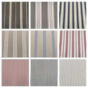 Luxury Stripes | 100% Cotton Woven Fabric | 7 Colours | Upholstery Curtains