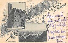 8952) UN SALUTO DA FIRENZE 2 VEDUTINE VIAGGIATA NEL 1897.