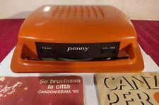 Mangiadischi PENNY arancio corrente/batterie + Dischi + Manuale