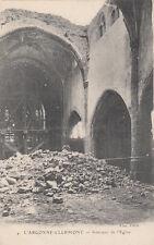 CLERMONT-EN-ARGONNE MEUSE GUERRE 14-18 WW1 4 intérieur de l'église