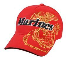 US Army Baseball Cap USMC Red Airborne Screaming Eagle USMC Marines Vietnam Rot