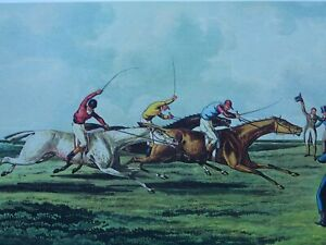HORSE RACING Print THE HIGH METTLED RACER Engraving by H. Alken delt