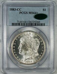 1883-CC $1 BU Morgan Silver Dollar Coin PCGS MS64+ CAC **Carson City**