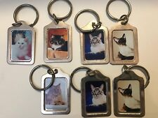 cat keychains Breed Siamese Domestic Short Long Hair Picture Choose
