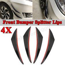 Universal Glossy Black Bumper Fin Canard Splitter Diffuser Valence Spoiler