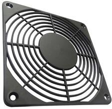 2x Rejilla de protección negro 120x120mm para ventilador de caja ordenador PC