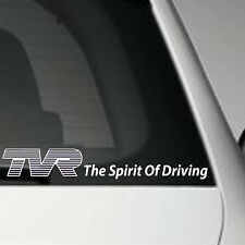 TVR VINYL ADHESIVE CAR BUMPER STICKER DECAL THE SPIRIT OF DRIVING