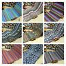 Boho Ethnic Stripe Fabric Costume Upholstery Curtain Sofa Cushion Pillow Vintage