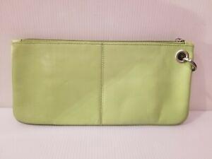 Women's Hobo International Leather Wrist-let Clutch Purse Mint Green
