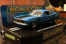 Brand New Scalextric Ford Mustang Boss 302 Grabber Blue #38 C2976 SCX Monogram