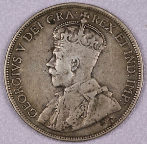 1921 CYPRUS 18 PIASTRES SILVER COIN VERY GOOD+ #FC062001CT